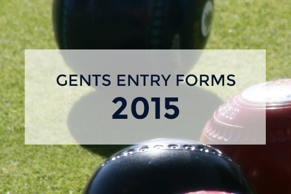 Gents Entry Form - Dunoon Open Entry Forms